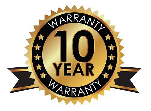 10-year product warranty badge