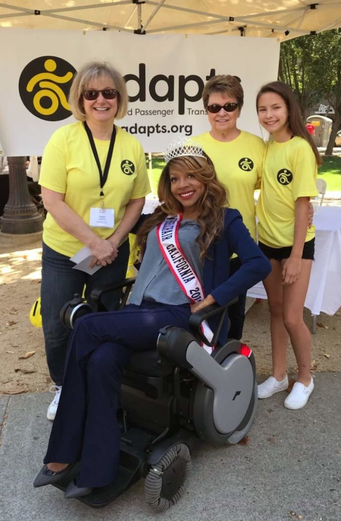 Ms. Wheelchair California with the ADAPTS team