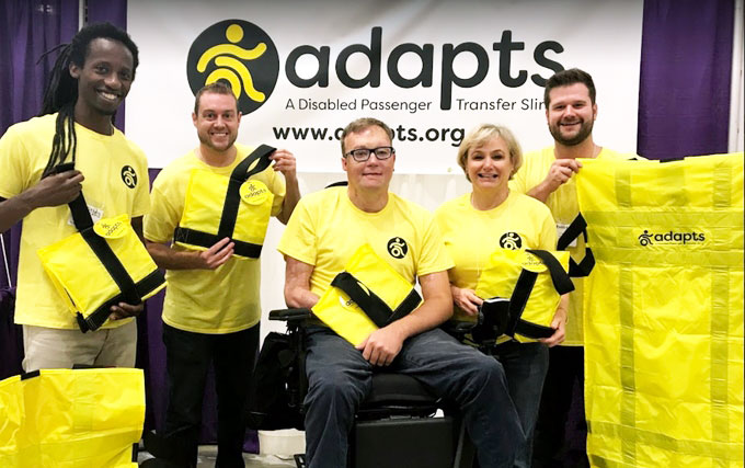ADAPTS team with slings